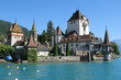 Oberhofen castle at the lake Thun, Switzerland ..