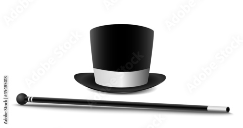 Gentlemans hat and cane