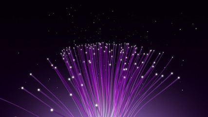 Optical fibers 1 - Purple