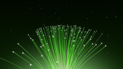 Optical Fibers 1 - Green