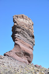 The famous Finger Of God rock formation and Teide volcano. Tener
