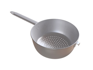 Metal colander. 3D isolated