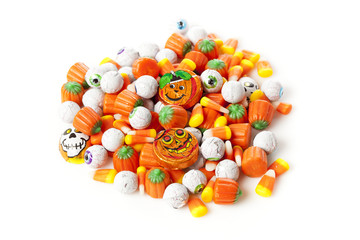Spooky Orange Halloween Candy