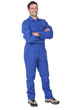 Full length worker in a boiler suit