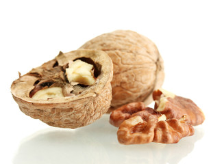 walnuts, isolated on white