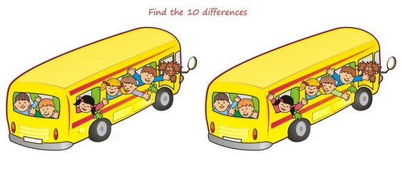 bus and children-10 differences