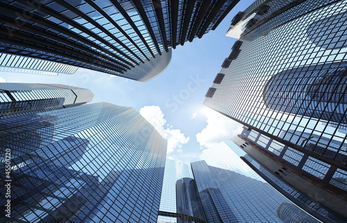 Leinwanddruck Bild skyscrapers