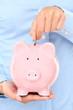 Piggy bank money concept