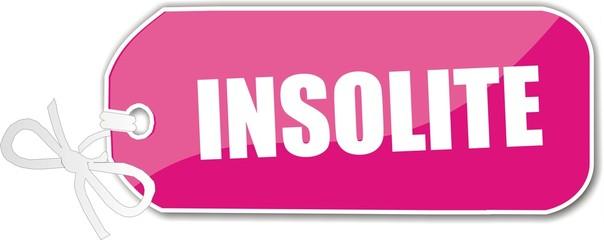 étiquette insolite