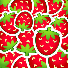 Background of strawberries