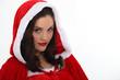 Woman wearing a Santa costume