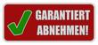 CB-Schild rot eckig oc GARANTIERT ABNEHMEN