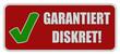 CB-Sticker rot eckig oc GARANTIERT DISKRET!