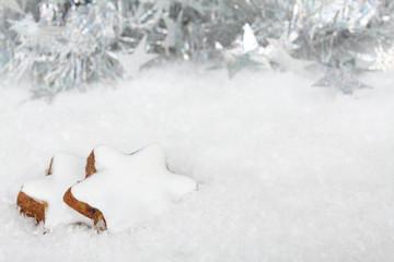 Zimtsterne im Schnee