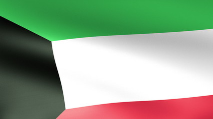 Kuwait Flag Waving