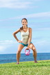 Crossfit fitness exercise woman