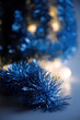 blue shiny decorations as a celebratory background