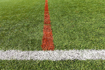 Artificial grass soccer pitch or indoor futsal pitch