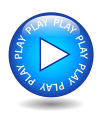 PLAY Web Button (watch video media player listen go continue)