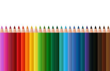 Bunte Farbstifte für die Schule, Farbenvielfalt