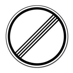 Geschwindigkeitsbegrenzung aufgehoben - ohne Beschränkung