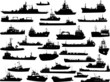 Set of 31 (thirty one) silhouettes of sea ships - 45507825