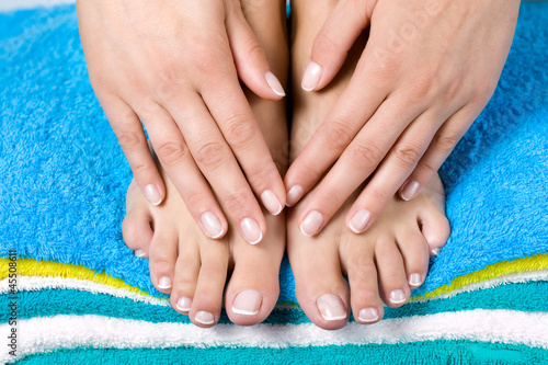 Women french manicure