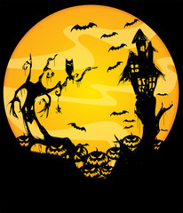 scary helloween night