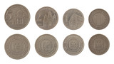 Old Yugoslav Coins Isolated on White