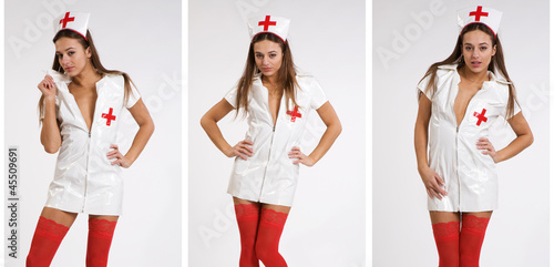 sexy woman in nurse outfit