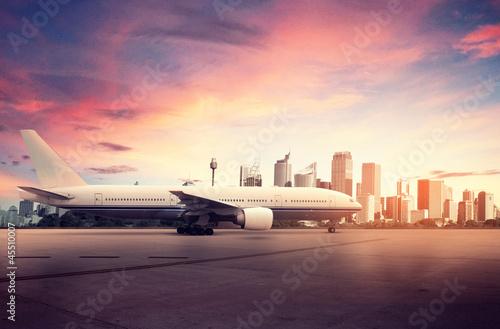 Airplane and Big City