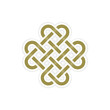 eternal knot concept in editable vector format