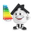 Kleines 3D Haus Schwarz - Top Energieverbrauch