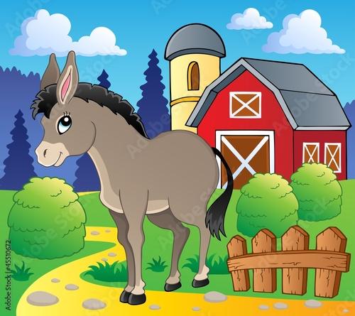 Foto op Canvas Boerderij Donkey theme image 2