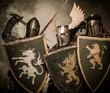 Three medieval knights