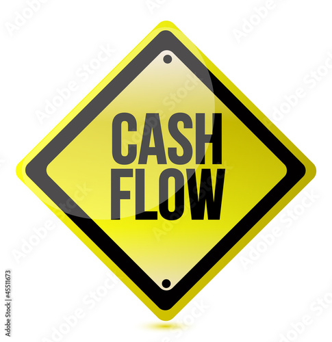 cash flow yellow sign illustration design