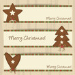 Brown Heart, Tree and Star - Christmas Banners