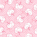 Seamless pattern with cotton buds