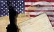 Bandera y documentos históricos de USA