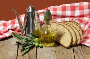pane ed olio d'oliva