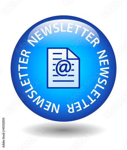 NEWSLETTER Web Button (marketing customer services information)