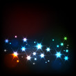 Abstract background with glowing stars