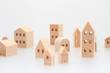 積み木の家 住宅 白バック - 45514658