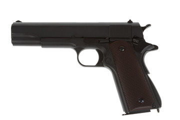 American legendary pistol on white background military model
