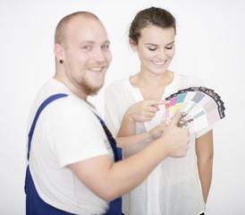 Beratungsgespräch mit Malermeister