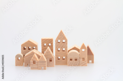 積み木の家 住宅 白バック - 45514655