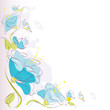 floral background,blue flower