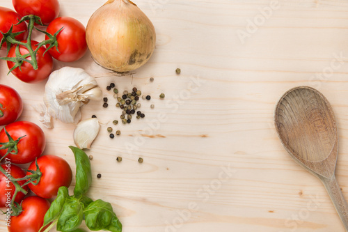 food ingredients background by nilsz royalty free stock photos