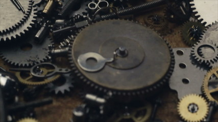 Small mechanical gears