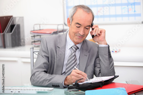 Businessman planning an appointment